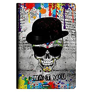 Nexus 9 Case, CowCool(R) Hand-painted PU Leather Card Holder with Kickstand Protective Case for Google Nexus 9 Google 9 8.9 inch, Hat Skull Sunglasses I Want You (M21)