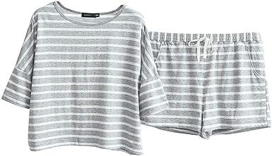 Pijama Pijamas De Verano For Mujer Pijamas De Algodón Dulce A ...