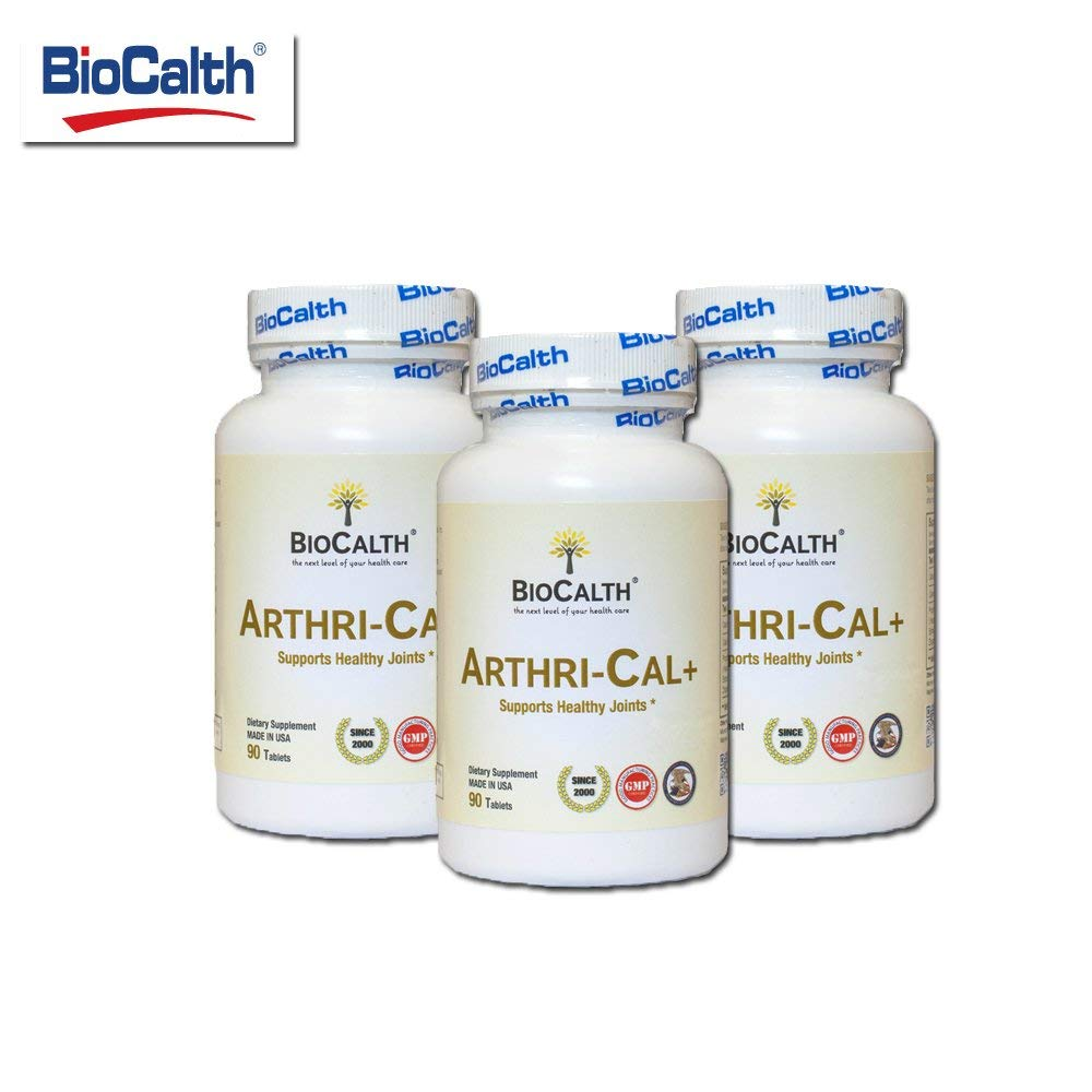 BioCalth Arthri-Cal+ - New Generation of Joint Health Supplement (3 Bottles /270 Counts)