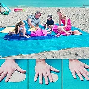 """'Playa alfombrilla de playa al abierto Alfombra portátil de playa portatil de playa manta alfombrilla resistente al agua de alfombrilla extra grande (tamaño: 150x 200cm/59""""x 79)"""
