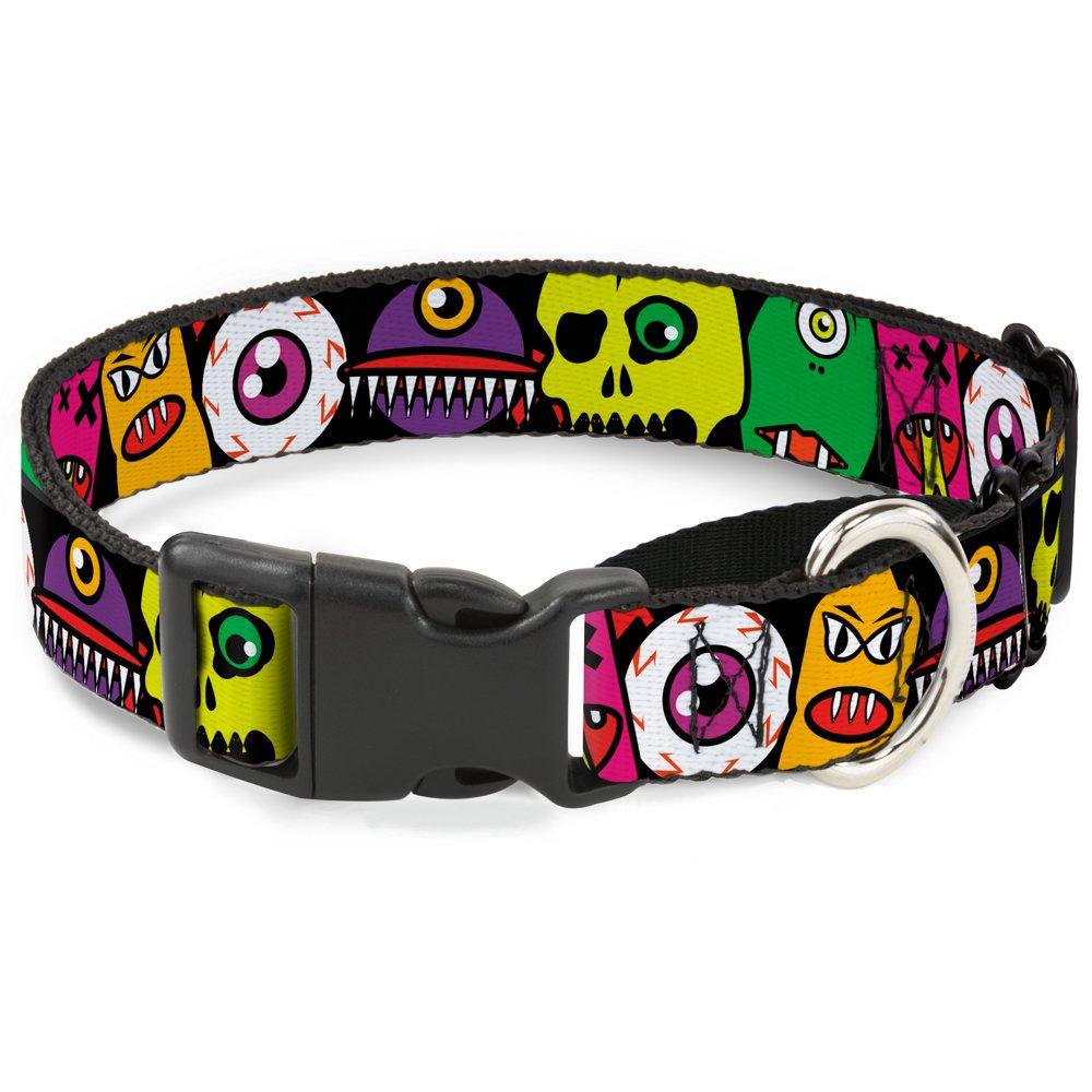 Buckle-Down MGC-W31363-WM Monsters Close-Up Black Martingale Dog Collar, Medium
