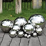 Pack of 2, Stainless Steel Hollow Gazing Ball