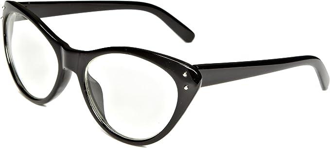 Iconeyewear Lauren - Gafas de sol para mujer estilo ojo de gato, color negro/transparente, talla única: Amazon.es: Ropa y accesorios