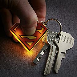 Superman Lighted Lit Limited Edition Keychain Key Chain