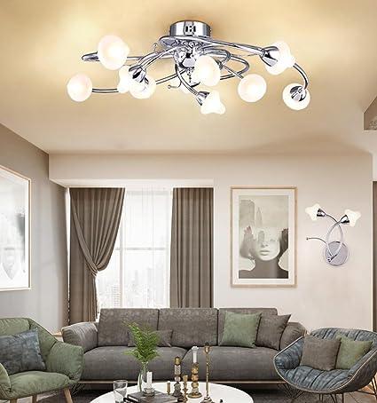 Moderno diseño lámpara de techo cromo hierro redondo ...
