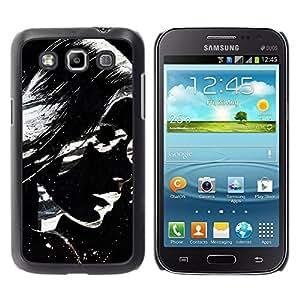 QCASE / Samsung Galaxy Win I8550 I8552 Grand Quattro / lunettes de soleil fille femme art lèvres de peinture / Delgado Negro Plástico caso cubierta Shell Armor Funda Case Cover