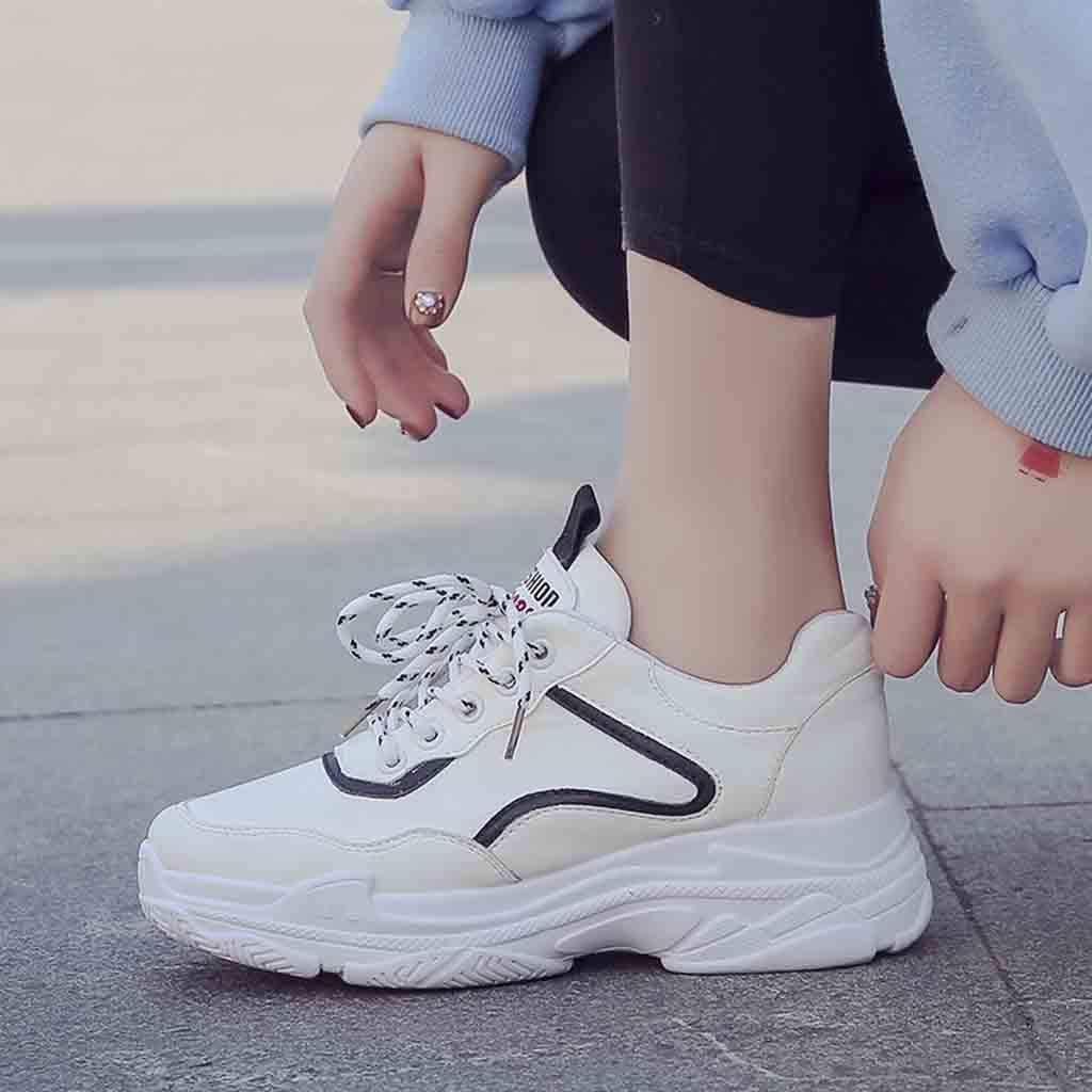 Laufschuhe Herren Damen Schuhe Sneakers Weiss Breathable Running Fitness Schuhe Joggingschuhe Rutschfeste Sportschuhe Weant Junges M/ädchen Gym Turnschuhe Atmungsaktiv Freizeitschuhe