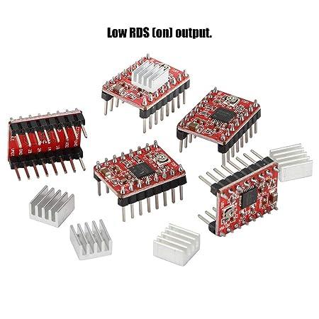 ASHATA 5 Unids/Set Kit de disipador de Calor del Controlador del ...