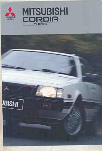 1987 Mitsubishi Cordia Turbo Brochure German French Italian