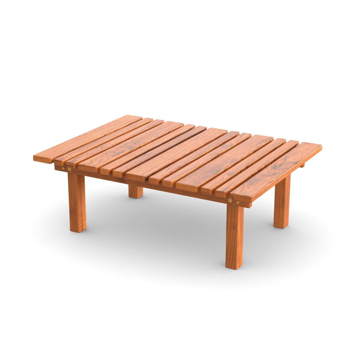 Ampel 24, Tavolino Pieghevole da Giardino, Balcone e terrazza | Tavolino d'appoggio Piccolo 50 x 50 cm | Tavolino da Giardino in larice Siberiano | Resistente