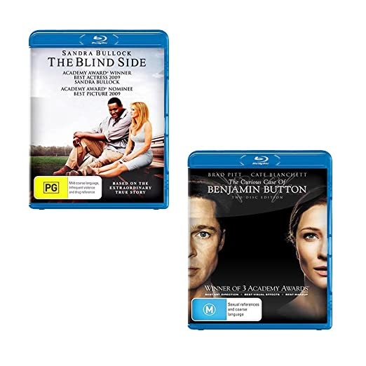 Amazon.com: Blind Side / Curious Case Benjamin Button + Bonus PS3 Blu-ray Remote Control | NON-USA Format | Region B Import - Australia: Sandra Bullock Brad ...