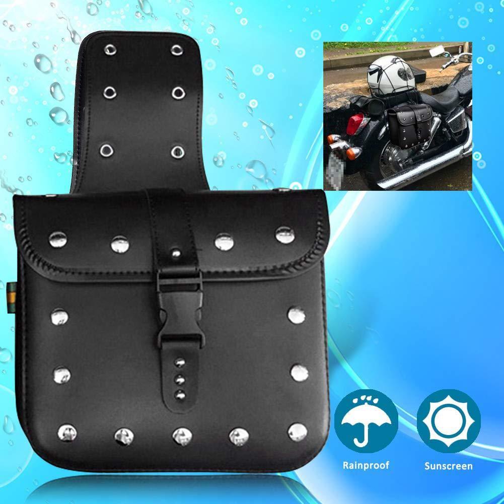 F/ür Molly 1 para Motorrad Satteltasche Reisetasche Set Medium Wasserdicht Isolierte PU Leder Seitentasche F/ür Harley Sportster Softail Honda Suzuki Yamaha Cruiser