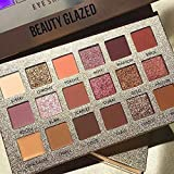 Professional New Nude Makeup Palette, 18 Colors Eyeshadow Palette Multi-Reflective Matte Glitters Pressed Pearl Concealer Base Shades Waterproof Eye Shadow Makeup Pallete