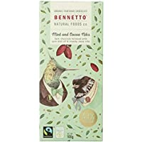 Bennetto Natural Foods Organic Nibs and Mint Dark Chocolate Bar, 100 g