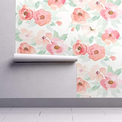 Peel And Stick Removable Wallpaper Floral Floral Blush