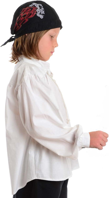 HEMAD Camisa pirata para niños - Algodón claro - S - XXXL Blanco: Amazon.es: Ropa y accesorios