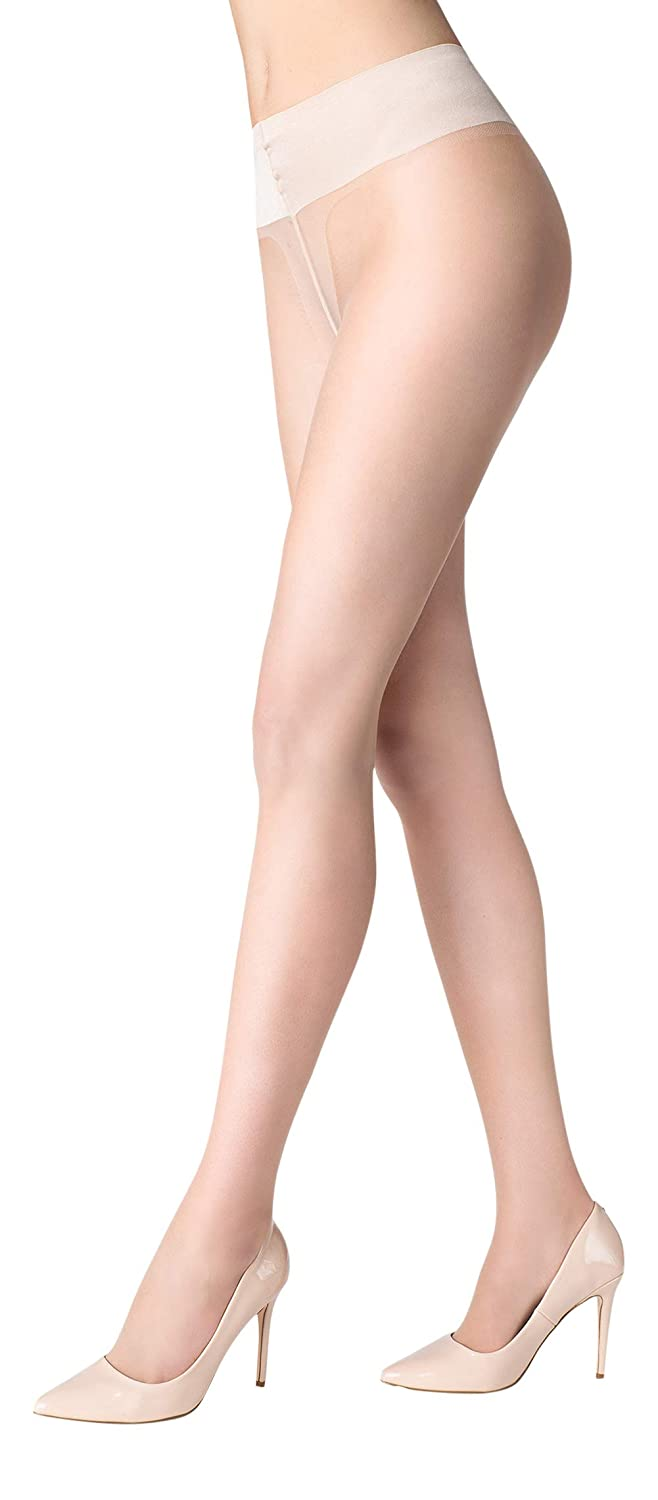 2d4b331d9a8e9 Womens Fashion Luxury Hosiery Ultra-sheer Natural Look Tights, Elastic  Band, Invisible Sandal Toe, 10 Denier: Amazon.co.uk: Clothing