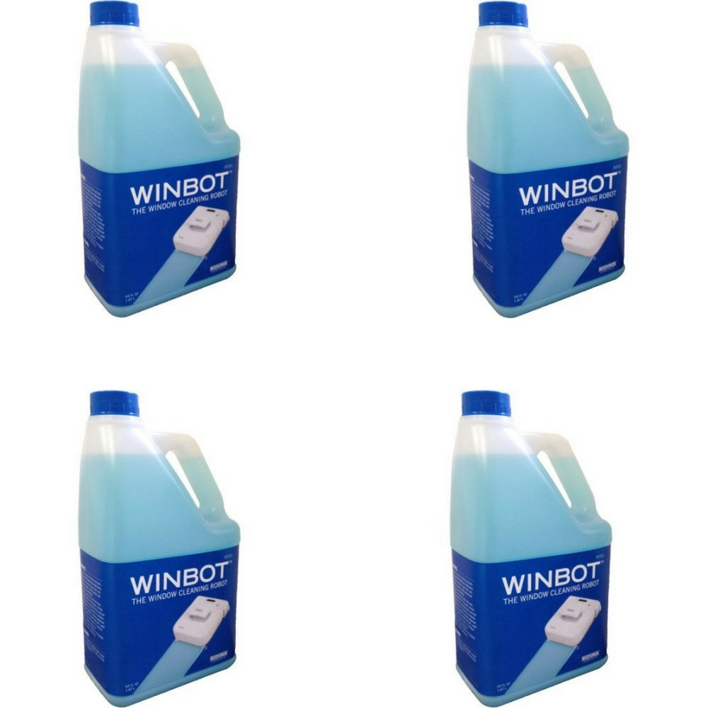 WINBOT Professional Cleaning Solution Refill, Half Gallon (4)