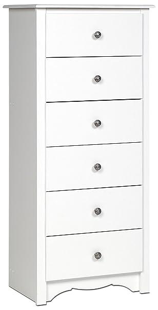 wholesale dealer 026b4 e2056 White Monterey Tall 6 Drawer Chest