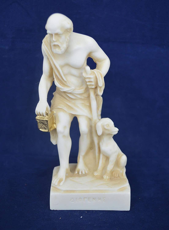 Estia Creations Diogenes Escultura de la Estatua cínica, Antigua filósofo Griego