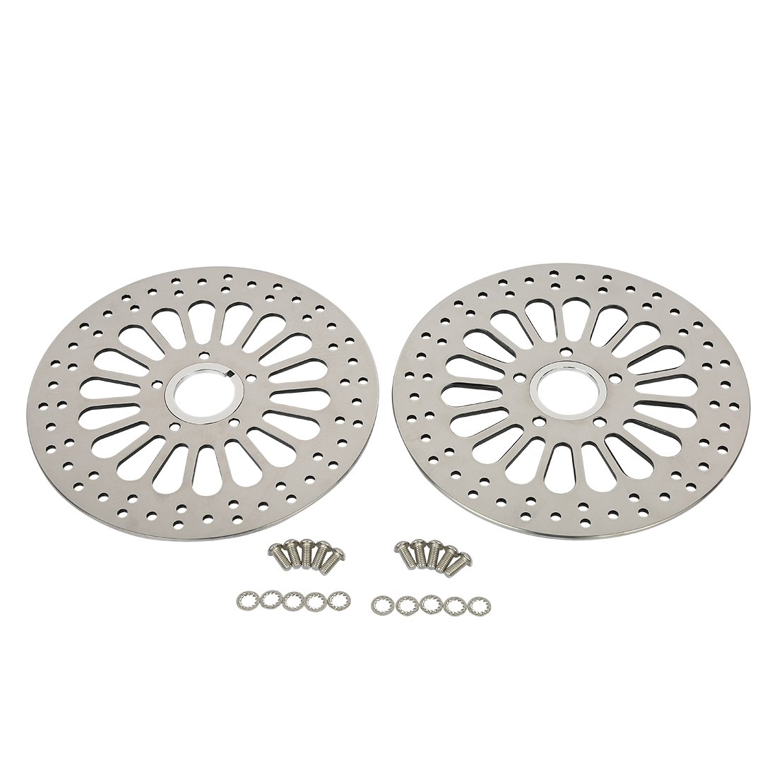 SHARKROAD 11.5'' Brake Rotors Front & Rear High Polished SS Disc For 08-13 Harley Touring