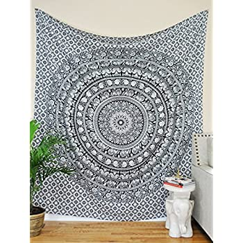 Tapestry Twin Black And White Hippie Elephant Mandala Tapestry Indian  Traditional Beach Throw Wall Art College