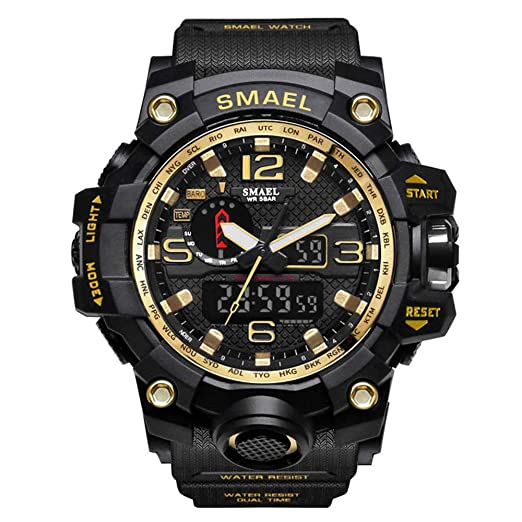 ZRSJ Relojes Hombre 50M waterproof reloj digital inteligente g shock hombre reloj deportivo reloj militar (