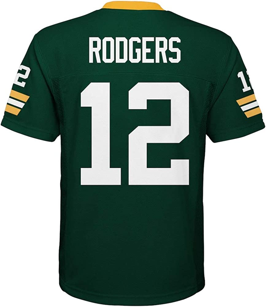 Aaron Rodgers Green Bay Packers NFL Kids Green Home Mid-Tier Jersey