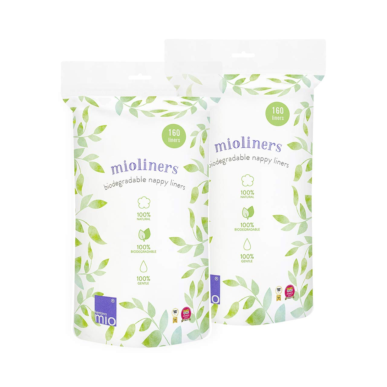 Bambino Mio, Mioliners (Biodegradable Diaper Liners), 2 Pack by Bambino Mio