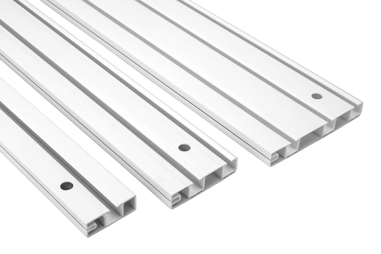 10 Metri 1-l/äufige PVC Binario per Tenda Tenda a Pannello Ganci per Tendine OM-1