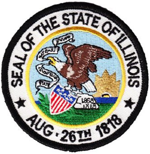 (Illinois - 3 inch Round State Seal Patch )