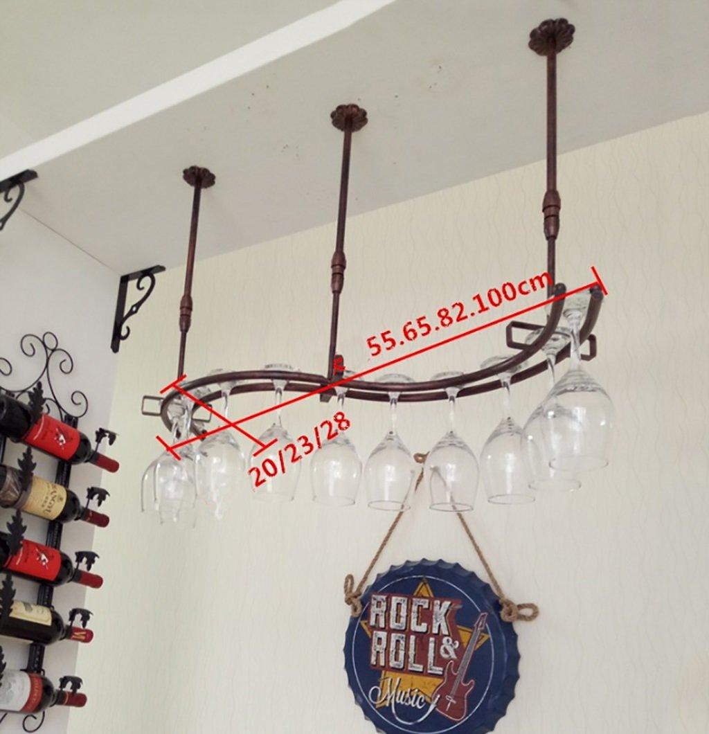 DESTRB Suspension Hanging Wine Glasses Holder Goblet Shelf,Wine Stemware Rack Red Wine Cup Holder Hanging Upside Down Goblet Holder for Home Kitchen Bar,Wrought Iron Wine Rack by DESTRB