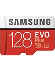Samsung Mobile UK 128 GB 100 MB/s Class 10 U3 Memory Evo Plus MicroSD card with Adapter