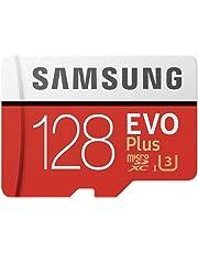 Samsung MB-MC128GA/EU EVO Plus 128 GB microSDXC UHS-I U3 Speicherkarte inkl. SD-Adapter Rot/Weiß