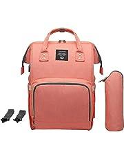 Chinatera Maternity Waterproof Diaper Bag USB Charging Large Mummy Backpacks (Pink)