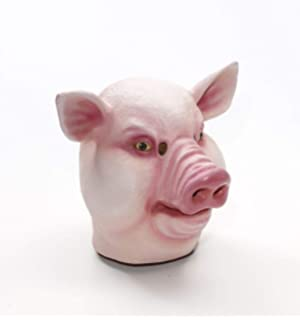 Forum Novelties 71350 Mask-Pig-Latex, Standard, Pink