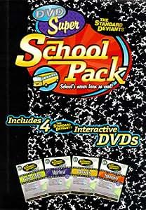 The Standard Deviants - Super School Pack (Algebra 1, Spanish 1, Basic Math, Physics 1)