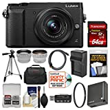 Panasonic Lumix DMC-GX85 4K Wi-Fi Digital Camera & 12-32mm Lens (Black) with 64GB Card + Case + Battery & Charger + Tripod + Tele/Wide Lens Kit For Sale