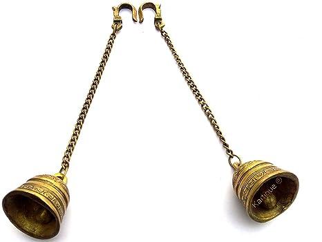 214deb05bde Buy Kartique Brass Wall Hanging Bells for Home Mandir Temple Living Room  Decoration Pooja