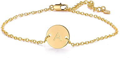14k Gold Filled Layered Initial Anklet for Women Dainty Alphabet Letter Charm Beach Ankle Bracelets for Teen Girls MONOZO Ankle Bracelets for Women