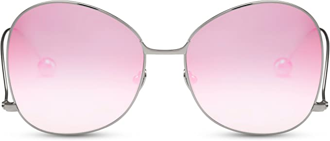 Cheapass Sonnenbrille Cat-Eye Verspiegelt Brille Frauen Damen