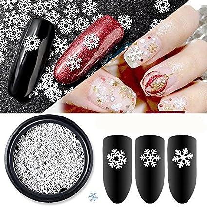 Amazon Com Cattie Girl 1 Box White Snow Christmas Nail Metal