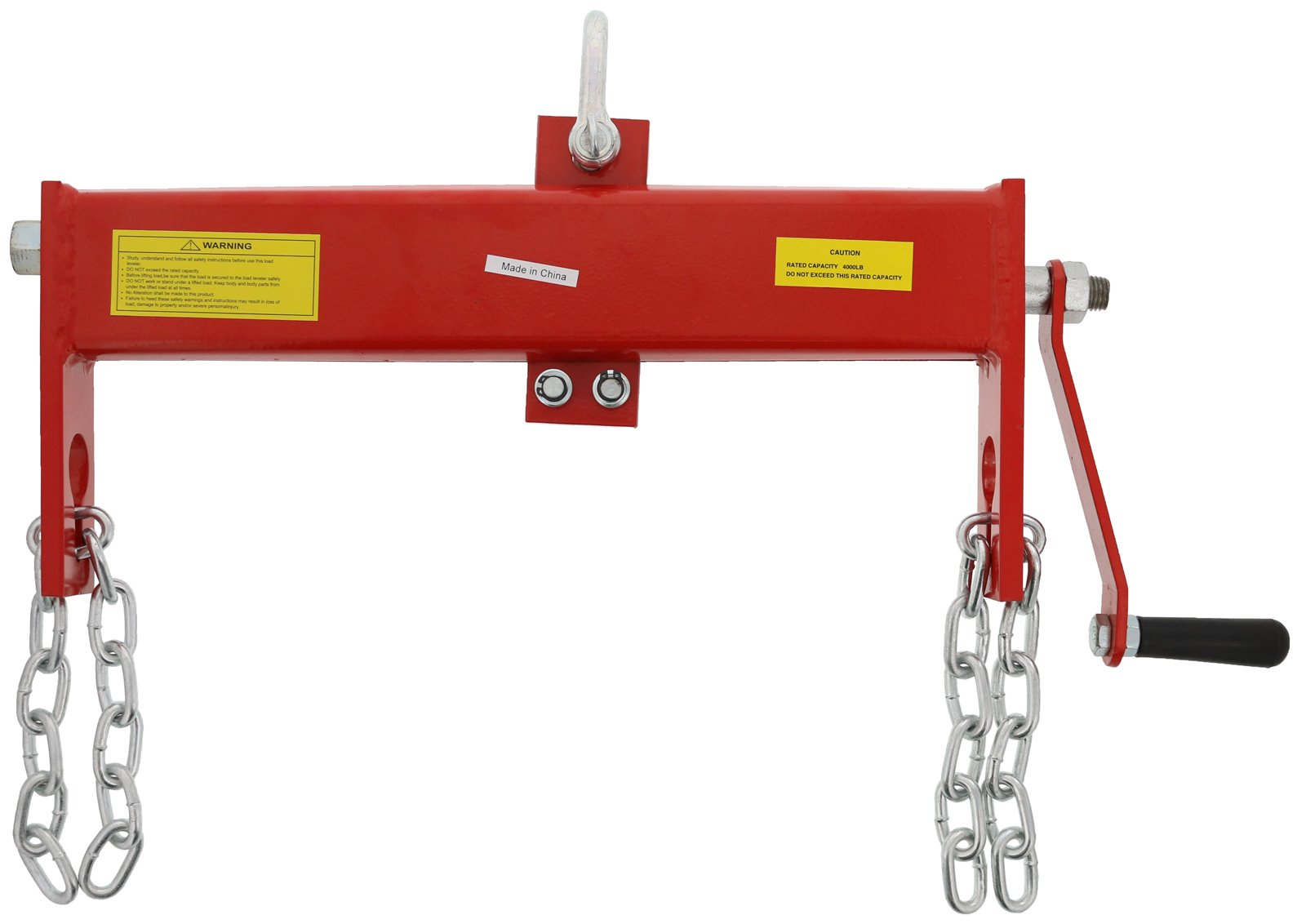 Heavy Duty Steel 2 Ton (4000 lb) Load Leveler for use with Engine Hoist/Crane by Dragway Tools