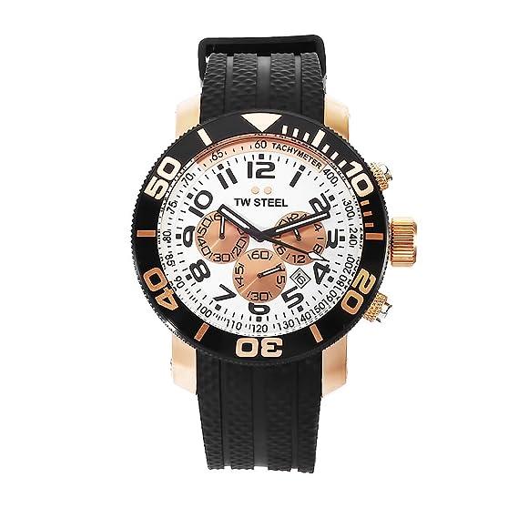 Tw Steel Reloj analogico para Hombre de Cuarzo con Correa en Caucho TW76