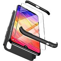 Funda Xiaomi Redmi Note 7 / Xiaomi Redmi Note 7 Pro , ivencase Híbrido Premium Resistente 3 en 1 Caso Protectora Dura Antiarañazos Para PC y Parachoques Resistente a los Arañazos para Xiaomi Redmi Note 7 / Xiaomi Redmi Note 7 Pro Negro