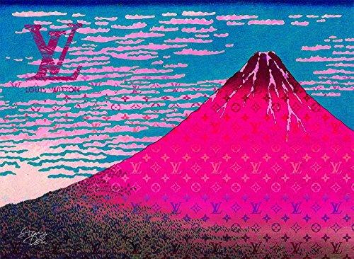 Mount Fuji 富士山 Louis Vuitton ポスター ポップアート #sh55 STAR DESIGN A1サイズ(594×841mm) カラー sh55a B0725RH875sh55a A1(594×841mm)