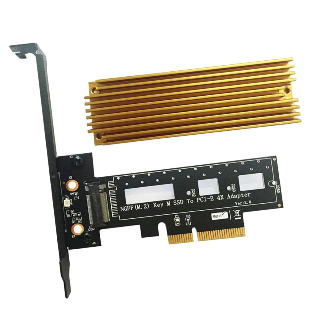 Sharplace Adaptador de Llave PCI Express Destornillador Disipador de Calor M2 Tornillo Thermal Pad