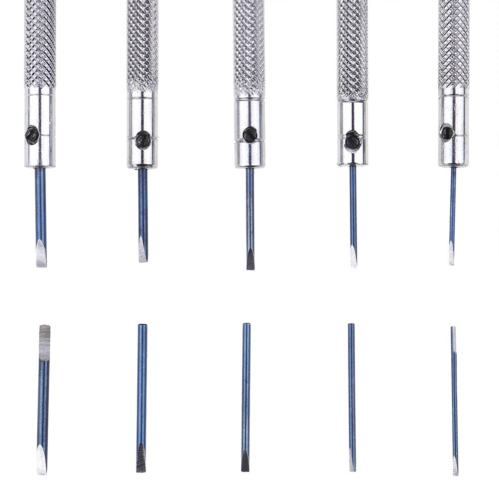 Diyiming Watchmakers Jewelers Precision Screwdrivers Different Sizes Slotted Screw Driver Screwdrivers Watchmaker Repair Tools 0.8-1.6mm