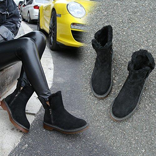 HOESCZS Frauen Frauen Frauen Schuhe Herbst Und Winter Plus Baumwolle Lederstiefel Frauen Lederstiefel In Der Röhre Schnee Stiefel Dicke Martin Stiefel B07JJRL5J3 Sport- & Outdoorschuhe Sehr gelobt und vom Publikum der Verbraucher geschätzt 3152e7
