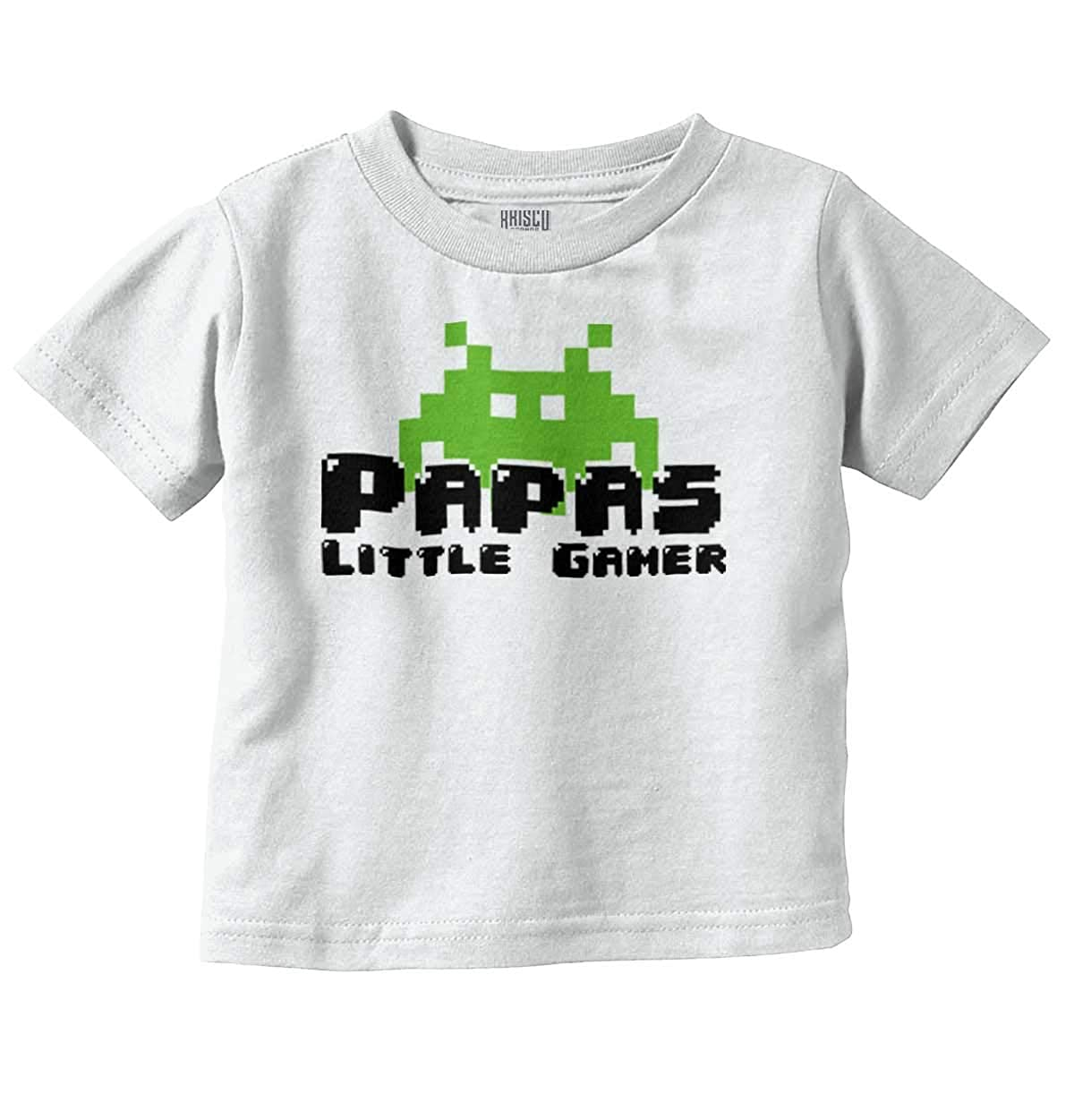 3ce8287d1 Amazon.com: Papas Little Gamer Video Games Geeky Nerdy Infant Toddler T  Shirt: Clothing
